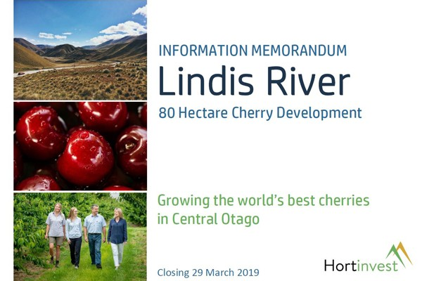 Lindis River Cherry Investment Opportunity image