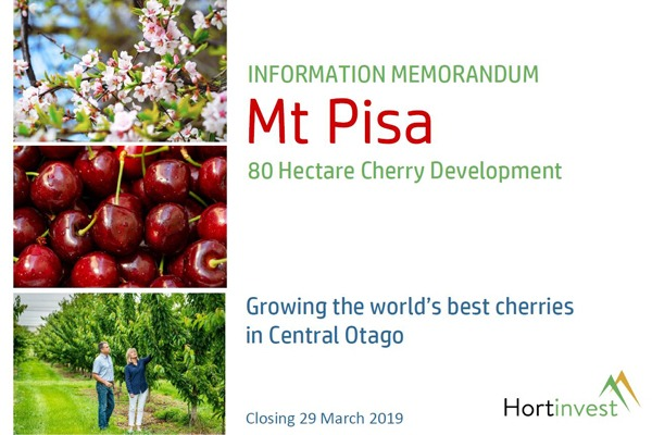 Mt Pisa Cherry Investment Opportunity image
